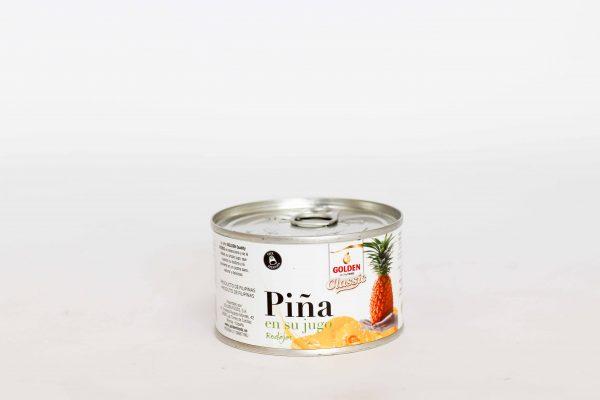Pinya en el seu suc en llauna